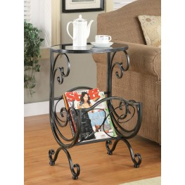 Silver Gun Metal Accent Table 700401