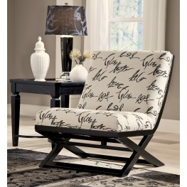 Levon Charcoal Showood Accent Chair