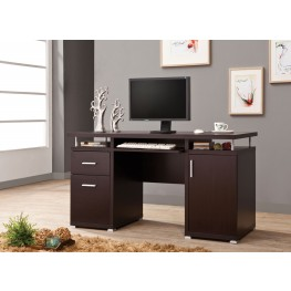 800107 Cappuccino Computer Desk