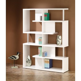 800310 White Bookcase