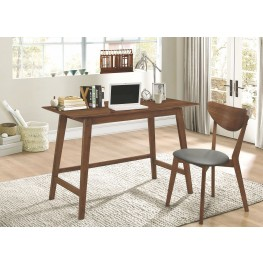 Mckinley Walnut 2 Piece Home Office Set