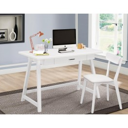Mckinley White 2 Piece Home Office Set