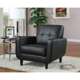 Black Vinyl Accent Chair 900204