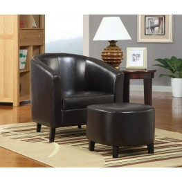 900240 Dark Brown Accent Chair