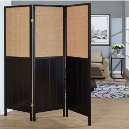 Black Folding Screen