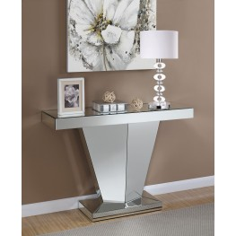 Clear Mirror Panel Console Table