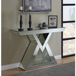 Clear Mirror Triangular Console Table