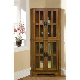 950185 Cappuccino/Chrome Curio Cabinet