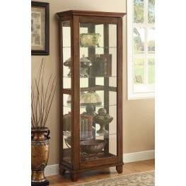 950188 Warm Brown Curio Cabinet