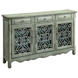 Antique Green 3 Drawer Accent Cabinet