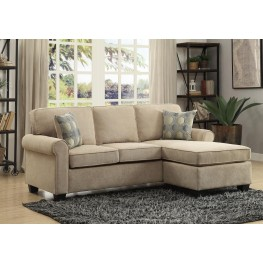 Clumber Sand Reversible Sofa Chaise