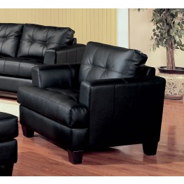 Samuel Black Leather Chair - 501683