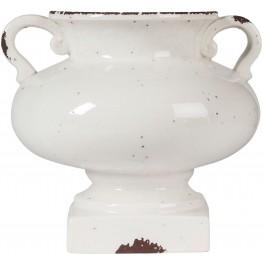 Dierdra Small Antique White Vase