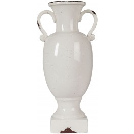 Dierdra Large Antique White Vase