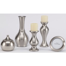 Rishona Brushed Silver Accessory Set of 5