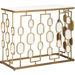 Majaci Gold Console Table