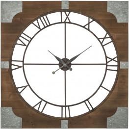 Palila Brown And Silver Wall Clock