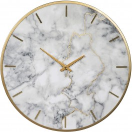 Jazmin Gray and Gold Wall Clock
