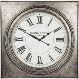 Pelham Antique Silver Wall Clock