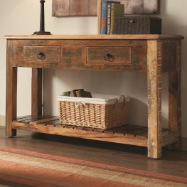 950364 Rustic Drawer Console Table
