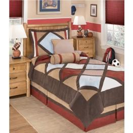 Academy Multi 5 Pcs Twin Bedding Set
