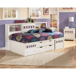 Zayley Full Bookcase Storage Bed