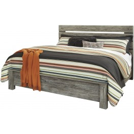 Cazenfeld Black and Gray King Panel Bed