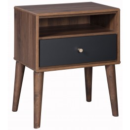 Daneston Brown and Black Nightstand