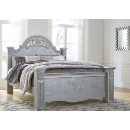 Zolena Champagne Queen Poster Bed