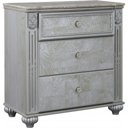 Zolena Champagne Three Drawer Nightstand
