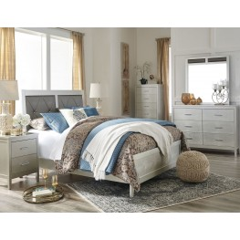 Olivet Silver Upholstered Panel Bedroom Set