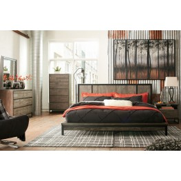 Cazentine Dark Rustic Gray Platform Bedroom Set