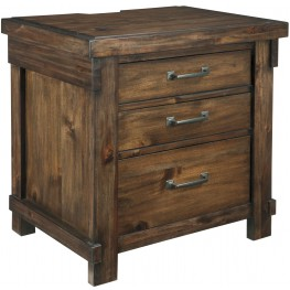 Lakeleigh Dark Brown 3 Drawer Night Stand
