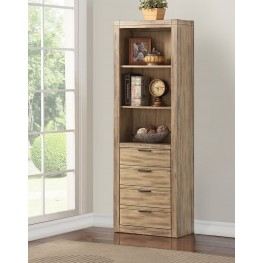 Brighton Merlot Door Bookcase