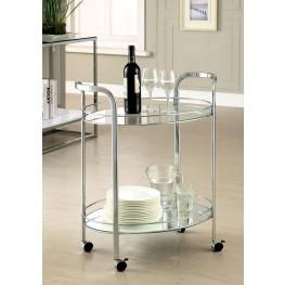 Loule Chrome Serving Cart