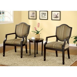 Bernetta II Espresso 3 Piece Accent Table & Chair Set