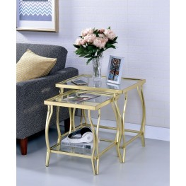 Marfa Champagne Nesting Table