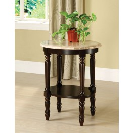 Santa Clarita Oval Marble Top Plant Stand