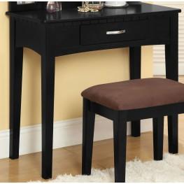Potterville Black Vanity Table