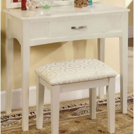 Potterville White Vanity Table