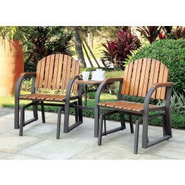 Perse Dark Gray and Oak Rocking Chair