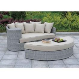 Calio Gray Patio Sofa And Ottoman