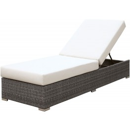 Somani Gray and Ivory Adjustable Chaise