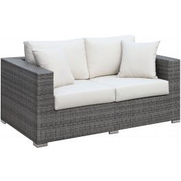 Somani Gray and Ivory Loveseat