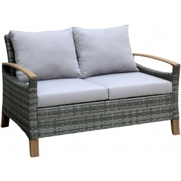 Monica Gray and Oak Patio Loveseat