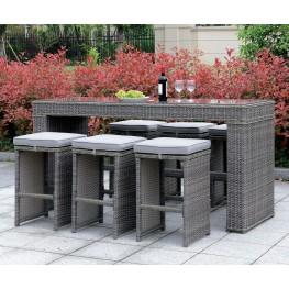 Ismay Gray Outdoor Patio Dining Set