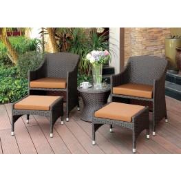 Almada Espresso 3 Piece Patio Chair Set
