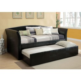 Delmar Black Trundle Daybed