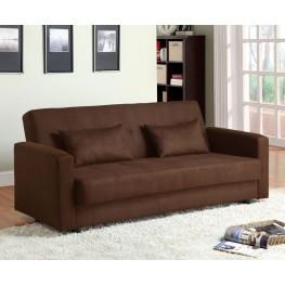 Jansen Microfiber Futon Storage Sofa