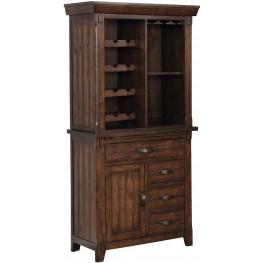 Meagan I Brown Cherry Wine Cabinet